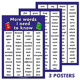 Set of 2 A2 Further High Frequency Key Words Paper Posters