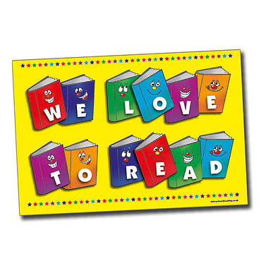 A2 We Love to Read Paper Poster