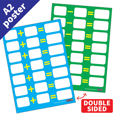 Write & Wipe Double Sided Addition & Subtraction  POSTER (A2)