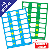 Write & Wipe Double Sided Addition & Subtraction Poster (A2 - 620mm x 420mm)