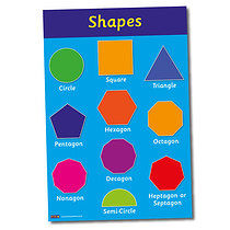 A2 Shapes Paper Poster