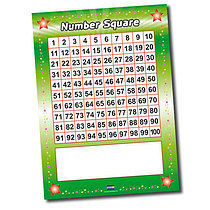 Number Square Poster - Write & Wipe (A2 - 620mm x 420mm)