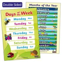 Days and Months Double Sided Poster (A2 - 620mm x 420mm)