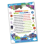 Children Learn What They Live Poster - Paper (A2 - 620mm x 420mm)