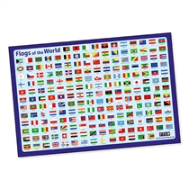 Flags of the World Poster (A2 - 620mm x 420mm)