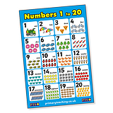 Numbers 1 - 20 Poster (A2 - 620mm x 420mm)