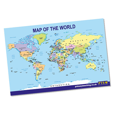 Map of the World Poster - Political (A2)
