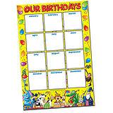 A2 Class Birthdays Paper Poster