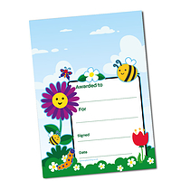 Personalised A5 Flowers & Butterflies Certificates