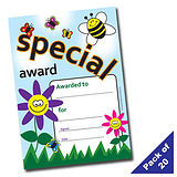 Pack of 20 Special Award Certificates Garden A5 Certificates