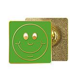 Green Smile Enamel Badge MULTI BUY OFFER