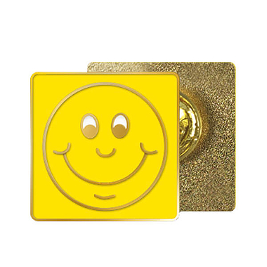 Yellow Smile Enamel Badge MULTI BUY OFFER