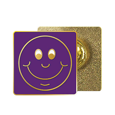 Purple Smile Enamel Badge (20mm x 20mm)