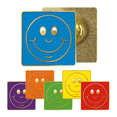 Smile Enamel Badge (20mm x 20mm)
