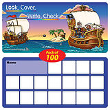 Look, Cover, Write, Check Cards Laminated (Pack of 100)