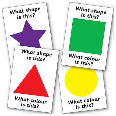 Pack of 32 A5 Colour & Shape Cards