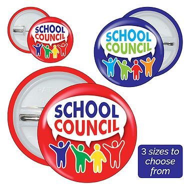 School Council Badges (10 Badges)