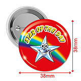 Pack of 10 Star of the Day Button Badges