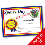 Pack of 20 Sports Day A5 Certificates