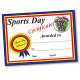 Pack of 10 Sports Day Certificate A4 Certificates