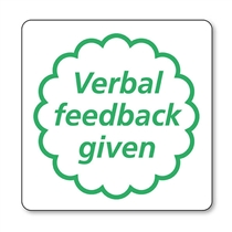 Verbal Feedback Given Purple Pre-inked Stamper