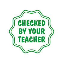 'Checked by your Teacher' Stamper (17mm, Green Ink)