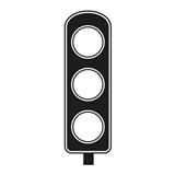 Traffic Light Black Rectangle Stamper