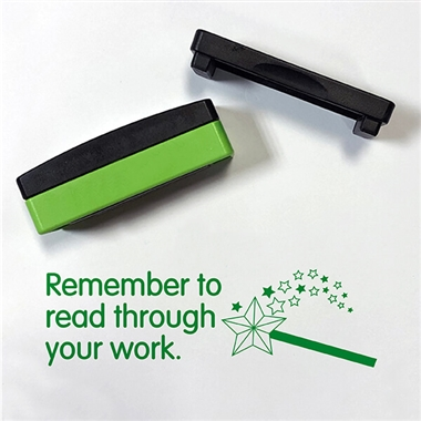 Remember to Read Through Your Work Stakz Stamper - Green Ink (44mm x 13mm)