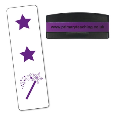 Two Stars and a Wish Stakz Stamper - Purple Ink (44mm x 13mm)