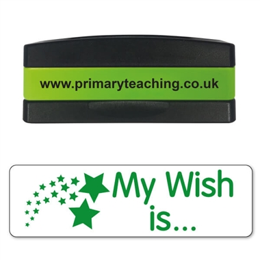 My Wish is Stakz Stamper - Green Ink (44mm x 13mm)
