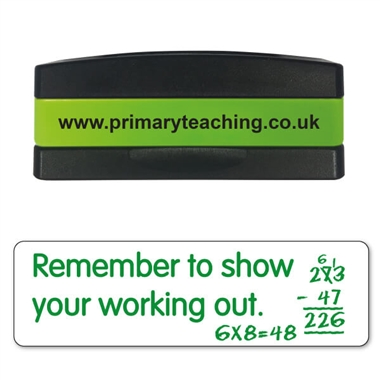 Remember to Show Your Working Out Stakz Stamper - Green Ink (44mm x 13mm)