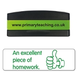 An Excellent Piece of Homework Stakz Stamper - Green Ink (44mm x 13mm)