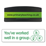 You've Worked Well in a Group Stakz Stamper - Green Ink (44mm x 13mm)