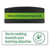 You're Working Towards Your Learning Objective Stakz Stamper - Green Ink (44mm x 13mm)