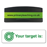 Your Target is: Stakz Stamper - Green Ink (44mm x 13mm)