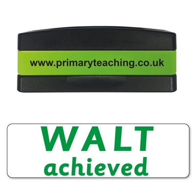 WALT (We Are Learning To) Achieved Stakz Stamper - Green Ink (44mm x 13mm)