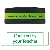 Checked by Your Teacher Stakz Stamper - Green Ink (44mm x 13mm)
