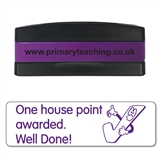 One House Point Awarded. Well Done! Stakz Stamper - Purple Ink (44mm x 13mm)