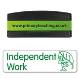 Independent Work Stakz Stamper - Green Ink (44mm x 13mm)