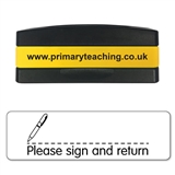 Please Sign and Return Stakz Stamper - Black Ink (44mm x 13mm)
