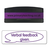 Verbal Feedback Given Stakz Stamper - Purple Ink (44mm x 13mm)