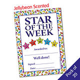 Star of the Week Jellybean Scented Certificates (20 Certificates - A5)