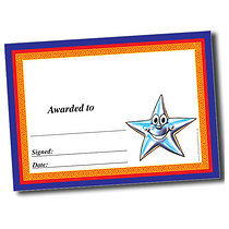 Personalised A5 Smiley Star with Border Certificates