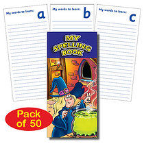Pack of 50 Magic Themed Spelling Book Dictionaries