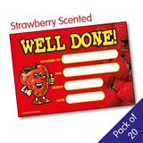 Strawberry Scented Well Done Certificates