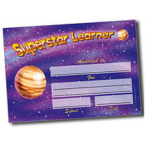 Personalised A5 Superstar Learner Certificates