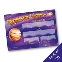 Superstar Learner Certificates (20 Certificates - A5)