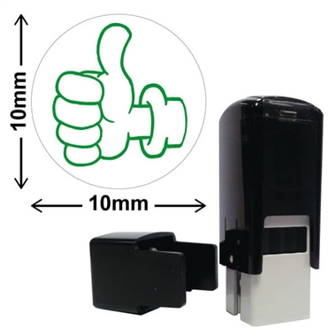 Thumbs Up Stamper - Green Ink (10mm)