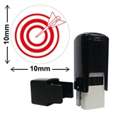 Target Mini Stamper (10mm, Red Ink)