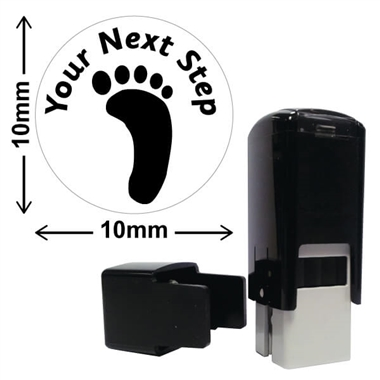 Your Next Step Footprint Stamper - Black Ink (10mm)